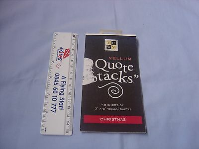 "Vellum ""Quote Stacks"" Christmas - part used"