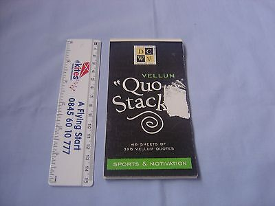 "Vellum ""Quote Stacks"" Sports and Motivation - part used"