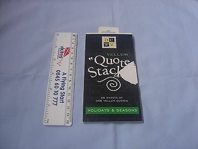 "Vellum ""Quote Stacks"" Holiday & Seasons - part used"