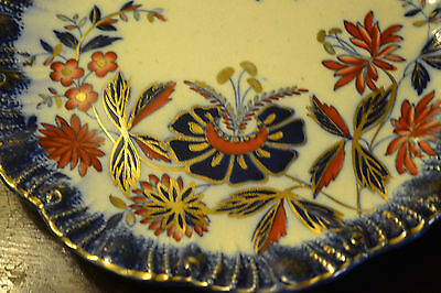 Antique Imari Blue & Gilt Decoration Hand Painted Plate Stunning