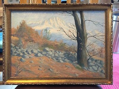An original landscape oil painting on board, signed by artist dated 1929