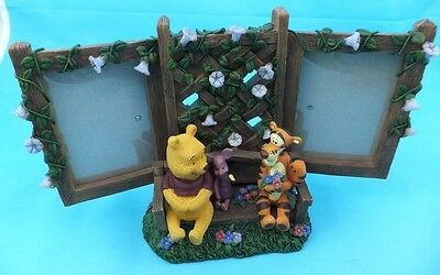 Walt Disney World Parks Winnie The Pooh Double Photo Frame Piglet And Tigger