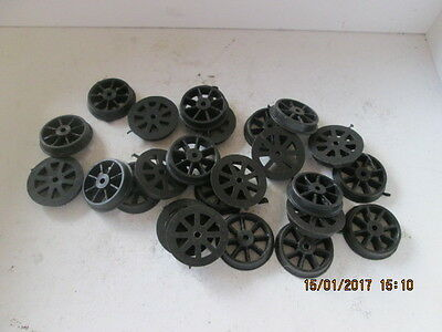 21mm Dia. PLASTIC SPOKED WHEELS, ( NO AXLES ) Qty.20
