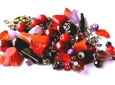 Starter Kit Mixed Beads & Charms for Jewellery Making Goth Theme (65g)