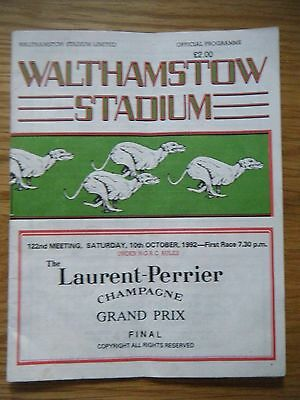 1992 Walthamstow Grand Prix Final Greyhound Racecard
