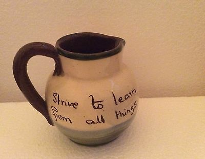 Vintage Devon Motto Ware Little Jug Swanage 'Strive To Learn From All Things'