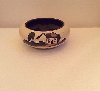 Vintage Devon Motto Ware Little Dish Ash Tray?  'Mind The Tablecloth'