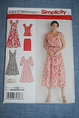 Simplicity 2917 Pattern For Very Feminine Summery Dress, Skirt And Top