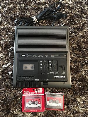 Panasonic Microcassette Transcriber RR-930 With 2 Tapes 1 Sealed