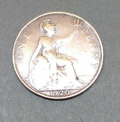 1920 Gv One Penny Coin