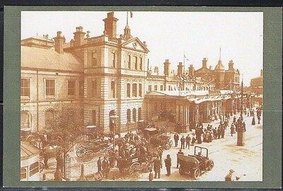 1906 Derby Station Nostalgic Postcard From Collection E7