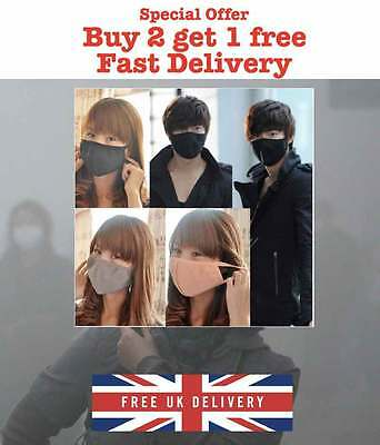 Black Health Cycling Anti-Dust Cotton Mouth Face Respirator Mask stocking filler
