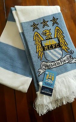 Manchester Man City Scarves Scarf Official Merchandise - Brand New