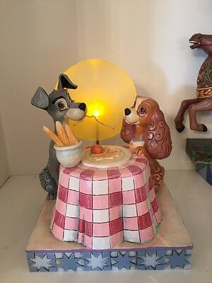 Disney Traditions Jim Shore Lady And The Tramp Moonlit Romance Showcase Light Up