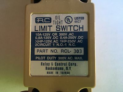 RC Oil Tight Limit Switch RCL 303 Brand New in Box