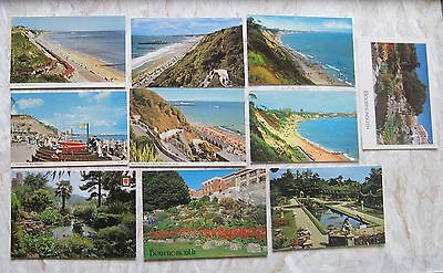 selection of 10 (ten) vintage bournemouth and poole postcards