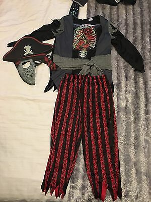 Boys Fancy Dress Pirate outfit Age 5-6 Years.