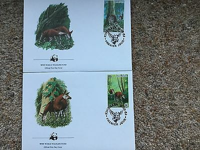 WWF first day cover stamps