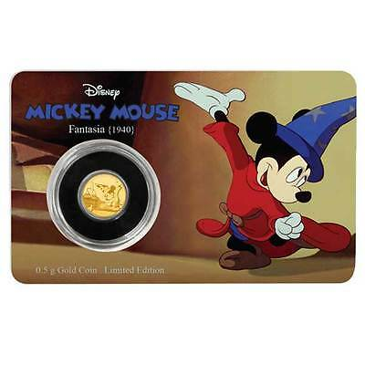 2016 Mickey Mouse Through The Ages: Fantasia 0.5g Proof Gold Coin