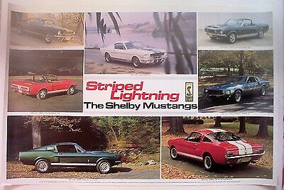 THE SHELBY MUSTANGS/STRIPED LIGHTNING poster by Automobile Quarterly