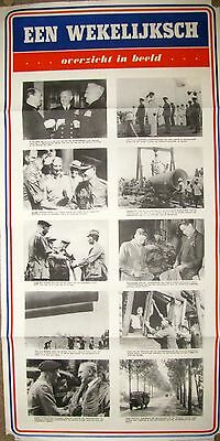 """WWII propaganda posters in Dutch, qty. 2, each different, No.54 & 55, 36"""" x 20""""."""