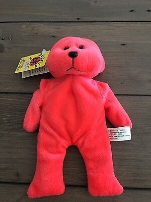 Crackle the fluoro red bear beanie kids