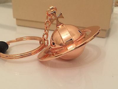 *Brand New in Box* Vivienne Westwood Large 3D Orb Keychain/Keyring in Rose Gold