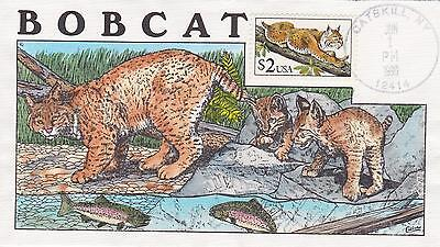 Collins Hand-Painted Fdc First Day Cover 1990 $2.00 Babcat Issue - Topical Cats