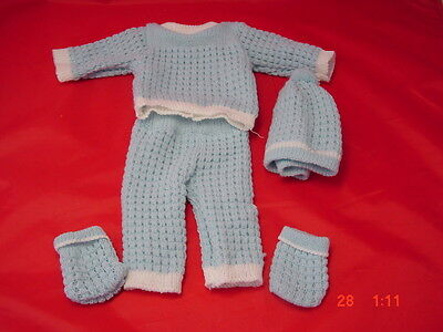 Knitted Blue  Suit For 16-17 In Dolls, New