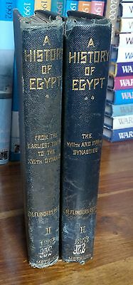 1899 2 Vols History of EGYPT by PETRIE, illustrated - hardback