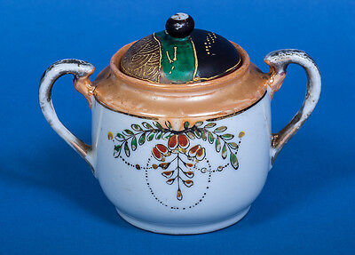 Klimax Hand Painted Sugar Bowl With Lid