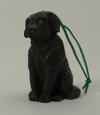 BLACK LABRADOR RETRIEVER (Lab) ~ Christmas/Holiday Tree Hanging Ornament ~2 1/4""