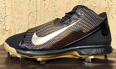 Nike Air Swingman Legend Low Metal Baseball Cleats Size 8 or 11.5 Black/Gold