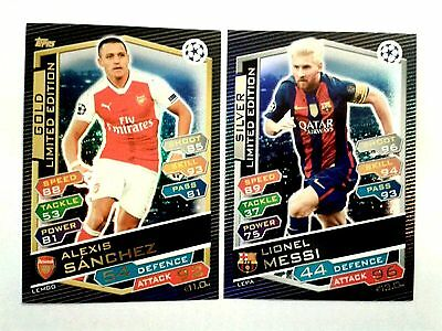 Match Attax Champions League 16/17 Limited Edition Cards - Add To Basket