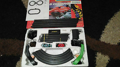 Micro Scalextric World Championship boxed race track set