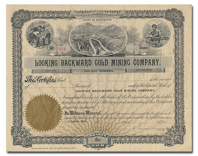 Looking Forward Gold Mining Company Stock Certificate