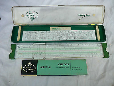 Faber Castell 2/83  Slide Rule, perfect condition in case, directions and card.