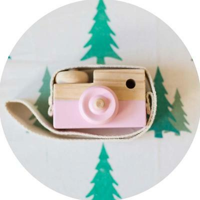 Learning Study Toy Wood Camera Educational Toys for Kids Children Baby Pink FT