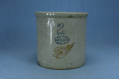 Antique RED WING 2 GALLON CROCK REVERSE OVAL UNION STONE CO MINN RARE FIND #3163