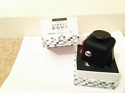 Fidget Cube, Black With Red Buttons, Brand New, In The Box