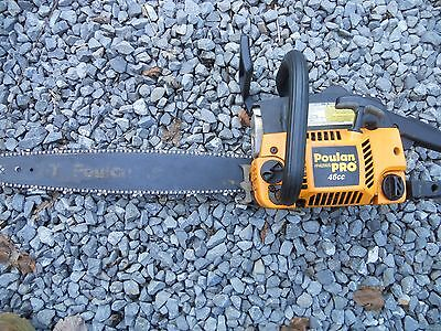 """POULAN PRO 46cc CHAINSAW  20"""" bar Nice used condition"""