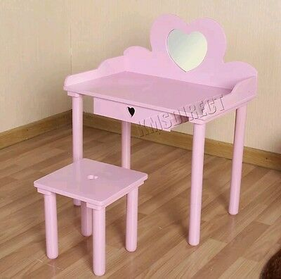 Brand new unboxed girls pink wooden dressing table