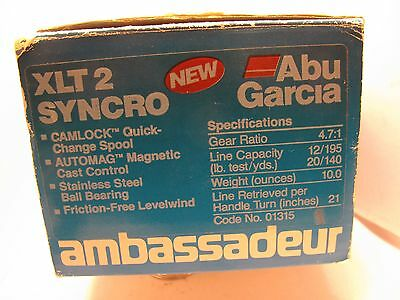 Ambassadeur  XLT 2 SYNCRO DRAG...Excellent w/Box,Paper and Tool(83-2   89-90)