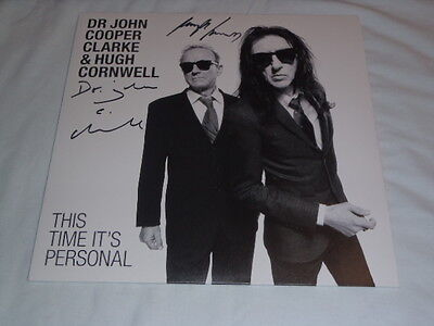 Stranglers Hugh Cornwell -John Cooper Clark -This Time Its Personal - Signed Lp!