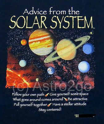 ADVICE FROM THE SOLAR SYSTEM-Astronomy Space Planets Science T Shirt S-2XL NEW!