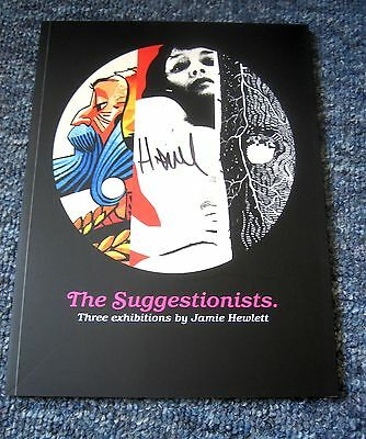 SIGNED: JAMIE HEWLETT THE SUGGESTIONISTS EXHIBITION BOOK 56pgs RARE ART GORILLAZ