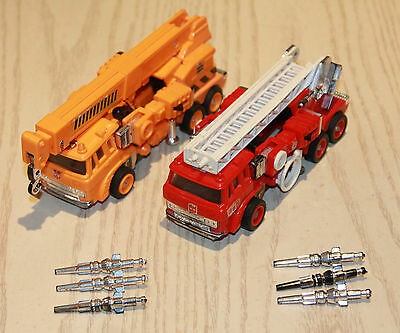 Vintage G1 Transformers Grapple and Inferno