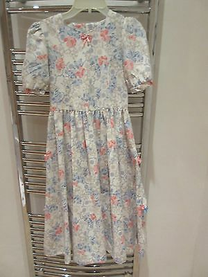 LAURA ASHLEY VINTAGE MOTHER & CHILD LABEL SPECIAL OCCASION DRESS 9 - 10 YRS vgc