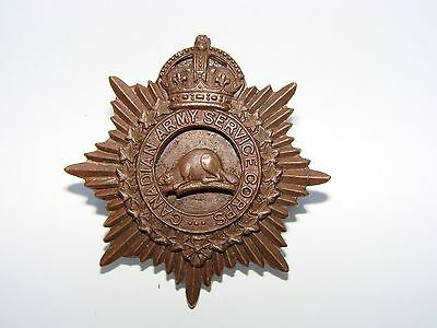 Canada WW1 CEF Cap Badge Officers The Canadian Army Service Corps