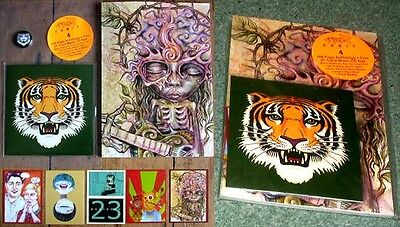 Paper Tiger Comix 4 100 Page Graphic Anthology +Music Cd Badge Art Cards.surreal